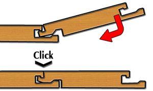 Соединение Click для ламината