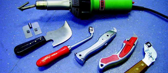 Инструменты для укладки линолеума