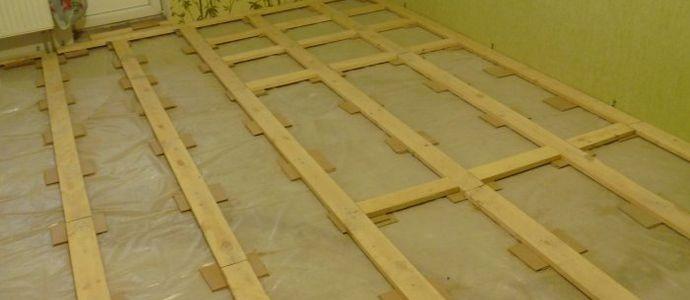 Подготовленный деревянный пол под ламинат