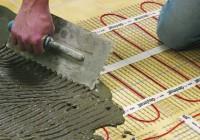 Как произвести монтаж тёплого пола под плитку?