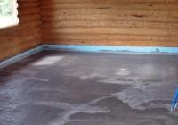 Как сделать бетонный пол в бане?