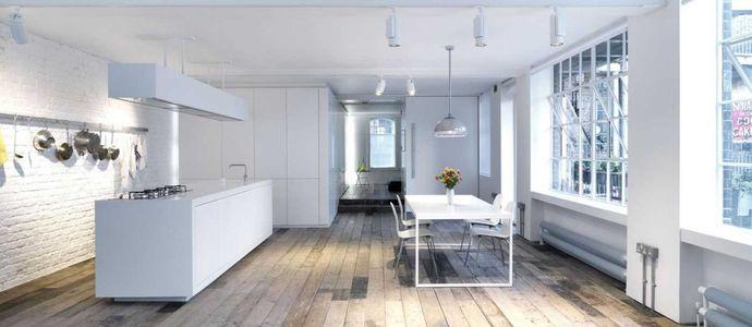Дизайнерская квартира с деревянными полами