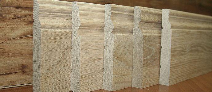 Деревянный шпонированный плинтус