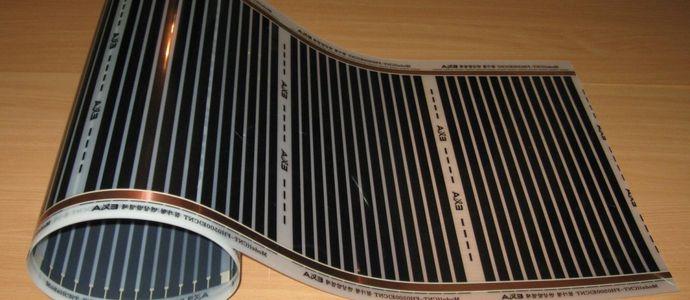Тёплый плёночный пол для укладки под ламинат