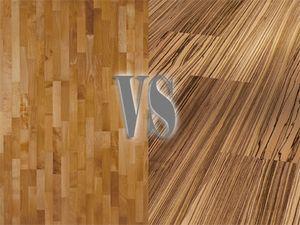 Сравнение двух напольных материалов