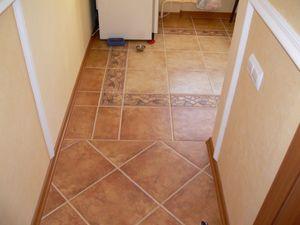 Укладка напольной плитки для пола по диагонали