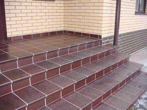 Клинкерная плитка для ступеней на улице