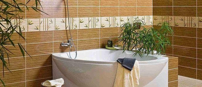 Прямая укладка плитки в ванной