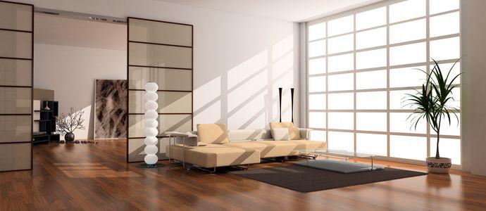 Дизайн гостиной с плиточным покрытием ПВХ