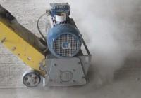 Выполнение шлифовки бетонного пола