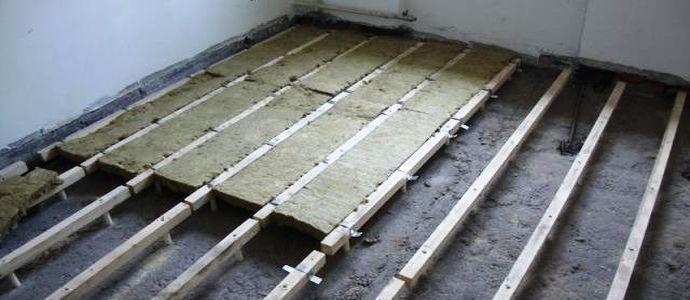 Минеральная вата для утепления бетонного пола