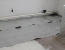 Укладка подложки под тёплый пол
