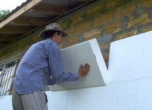 Обшивка фасада дома пенопластом