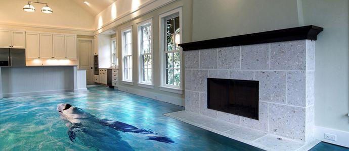 Фото наливных полов 3D