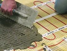 Укладка электрического тёплого пола под плитку