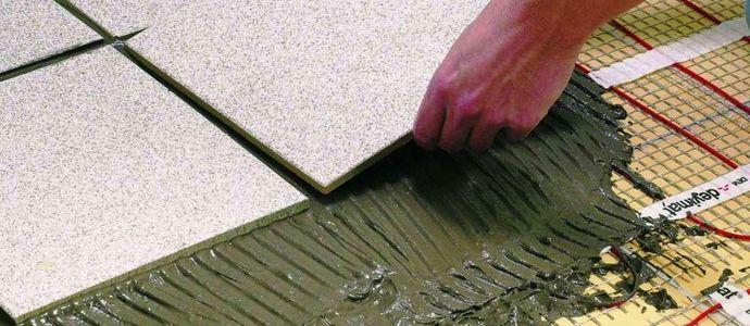 Укладка плитки на систему теплого пола