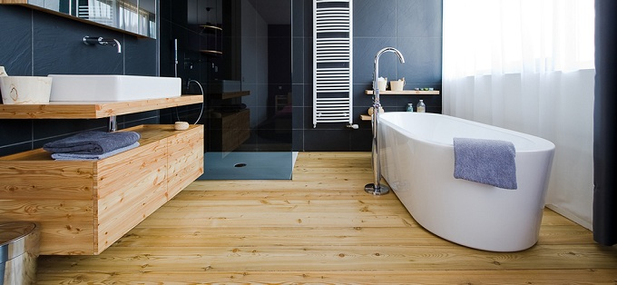 пример использования в ванной